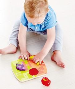 puzzel - houten puzzel - fruit puzzel - Chunky Fruit Puzzle - speelgoed - houten speelgoed - educatief speelgoed - fruit - dn houten tol - de mouthoeve - speelgoedwinkel boekel - hape - E1453