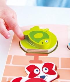 puzzel - houten puzzel - huisdieren puzzel - Dynamic Pet Puzzle - hond - poes - kat - vis - speelgoed - houten speelgoed - educatief speelgoed - dn houten tol - de mouthoeve - speelgoedwinkel boekel - hape - E1610