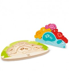 puzzel - houten puzzel - slapende dieren puzzel - Sleepy Animal Puzzle - hape - E1612 - speelgoed - houten speelgoed - educatief speelgoed - dn houten tol - de mouthoeve - speelgoedwinkel boekel