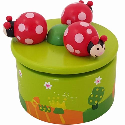 muziekdoosje - lieveheersbeestjes - hout - speelgoed - houten speelgoed - playwood - dn houten tol - webshop - winkel - de mouthoeve - boekel