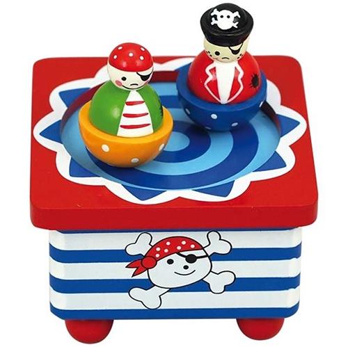 dansende piraat - muziekdoosje - speelgoed - houten speelgoed - dn houten tol - de mouthoeve - webshop - winkel - boekel - playwood