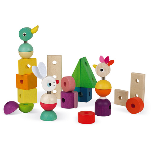 janod - houten speelgoed - trein - dieren trein - blokken - trekfiguur - kleurrijk - duurzaam - educatief - dn houten tol - webshop - speelgoedwinkel - de mouthoeve - boekel