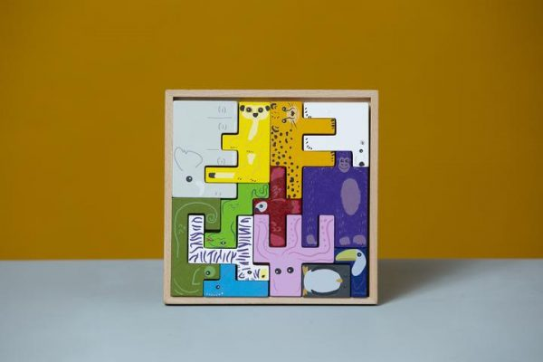 puzzel - houten puzzel - dieren puzzel - superblocco - dieren - blokken - stapelblokken - 3d dierenpuzzel - dn houten tol - de mouthoeve - boekel - speelgoedwinkel - webshop
