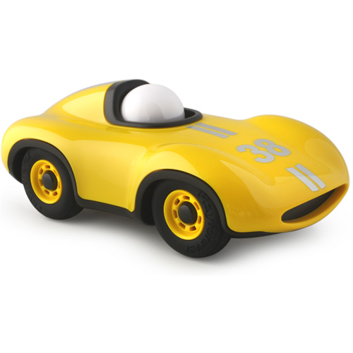 race auto - klassiek - ABS plastic - vliegtuig - Speedy Le Mans Yellow - mannen cadeau - playforever - race auto - voertuigen - auto's - kunststof - 07703 - speelgoed - houten speelgoed - cadeau - vanaf 3 jaar - kraamcadeau - gender party - baby shower - peuter - kleuter - tm 99 jaar - educatief - leerzaam - duurzaam - dn houten tol - jongens - meisjes - de mouthoeve - boekel - webshop - speelgoedwinkel