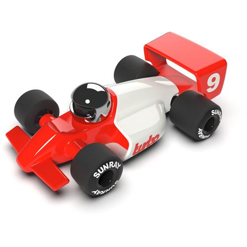 Turbo Lauper - vanaf 3 jaar - race auto - klassiek - ABS plasticmodel auto - playforever - janod - auto - 07VT803 - decoratie auto - speelgoed - houten speelgoed - kinderspeelgoed - kraamcadeau - gender party - babyshower - dn houten tol - webshop - speelgoedwinkel - boekel - mannen auto - verjaardags cadeau voor kinderen en mannen -