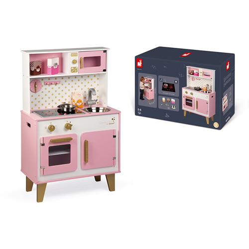 keukentje - houten keukentje - janod - candy chic - roze - houten speelgoed - kraamcadeau - gender party - babyshower - baby - peuter - kleuter - dreumes - educatief - leerzaam - duurzaam - webshop - boekel - speelgoedwinkel - dn houten tol - de mouthoeve - pannetjes - kinder keukentje