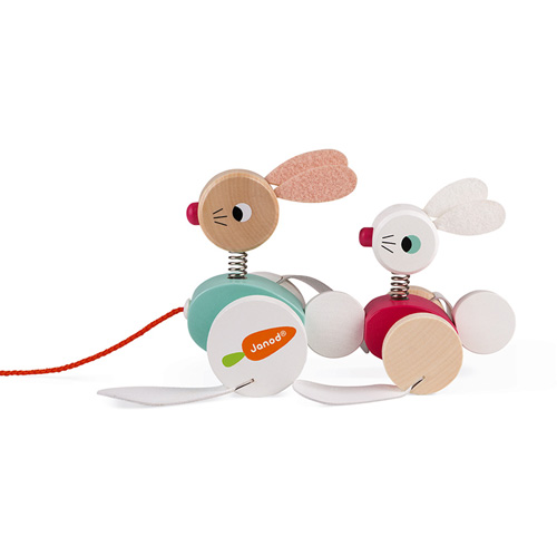 janod - trekfiguur - konijnen - houten speelgoed - baby - dreumes - 12 maanden - 36 maanden - dn houten tol - boekel - de mouthoeve - webshop - speelgoedwinkel - kraamcadeau - gender party - baby shower - verjaardags cadeau - 1 jaar - 2 jaar