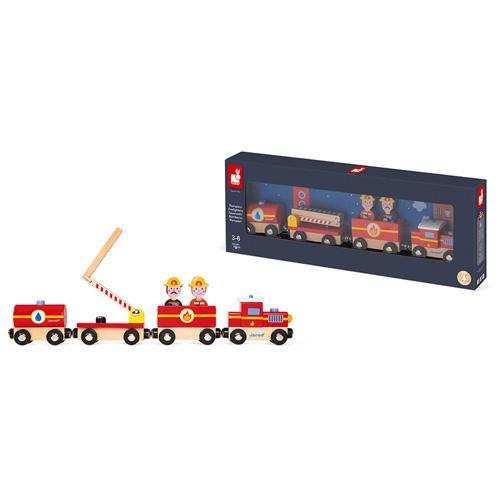 brandweer mannen - feestdagen - 3de verjaardag - 4de verjaardag - jongen - meisje - gender neutraal - sinterklaas - brandweer trein - houten trein - peuter - kleuter - speelgoed - hout - janod - koe - wagonnetjes - kraamcadeau - gender party - baby shower - baby - 118590 - dn houten tol - de mouthoeve - boekel - speelgoedwinkel - webshop - kinderen trein