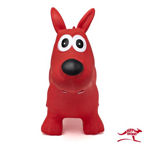 Hippy skippy - hond rood - spring bal - skippy bal - speelgoed - houten speelgoed - kinderen - koe - dieren - vanaf 3 jaar - verjaardagscadeau - kraamcadeau - kado - gender party - babyshower - peuter - kleuter - school kind - 4de verjaardag - 5de verjaardag - dn houten tol - de mouthoeve - boekel - webshop - speelgoedwinkel - buitenspeelgoed - 120062