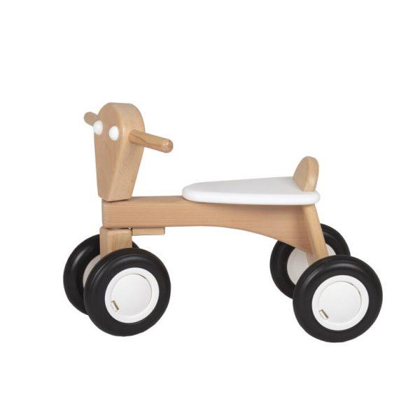 loopfiets - van dijk toys- 139 - Beukenhout product - Buiten spelen - geschikt voor instellingen - Leren fietsen - leren lopen - Training evenwicht - Verjaardag - babyshower - kraamvisite - gender party - baby - dreumes - dn houten tol - houten speelgoed - de mouthoeve - boekel - speelgoedwinkel - webshop