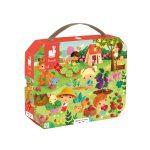 Puzzel - Puzzelkoffer Tuin - janod - puzzel in koffer - vanaf 4 jaar - 112648 - kleuter - schoolgaand kind - dn houten tol - Blizz - de mouthoeve - boekel - webshop - winkel - verjaardags cadeau